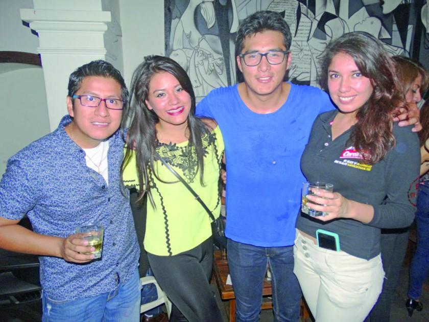 Max Cotaña, Maira Vargas, Micky Torres y Mónica Pérez.
