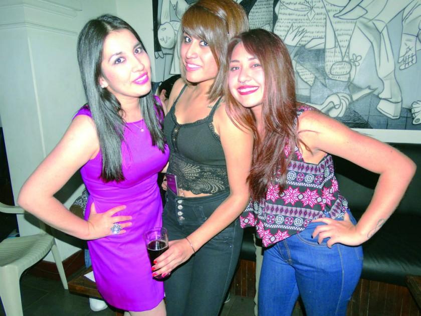 Lizbeth Hinojosa, Alejandra Bayo y Alejandra Tapia.