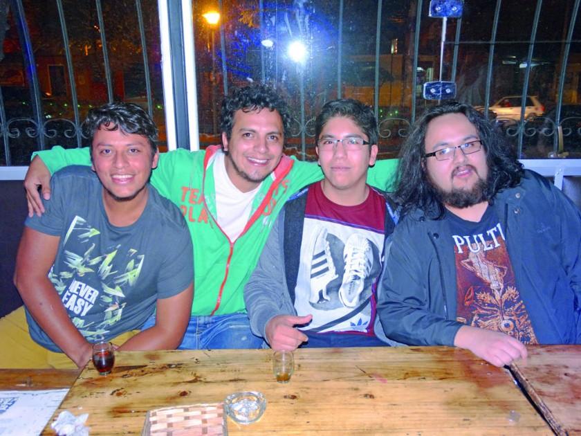 René, Rodrigo, Andrés y Juan.