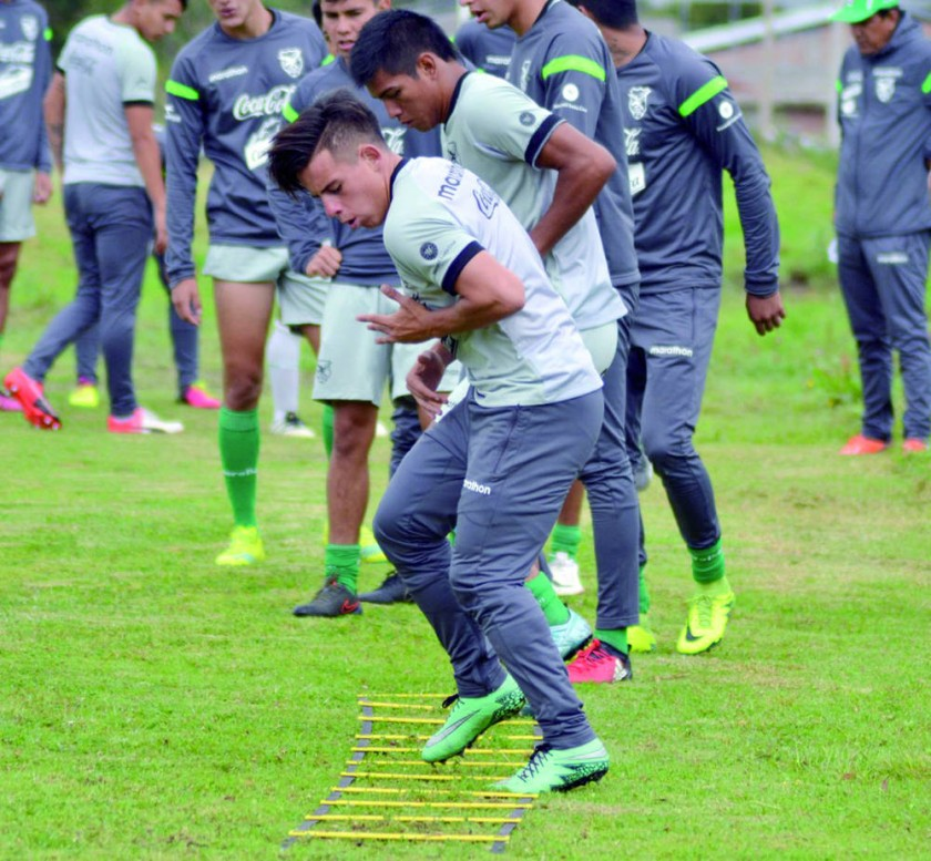 La Selección Nacional cerró ayer sus prácticas en el complejo Juan Yepez de Ibarra (Ecuador).