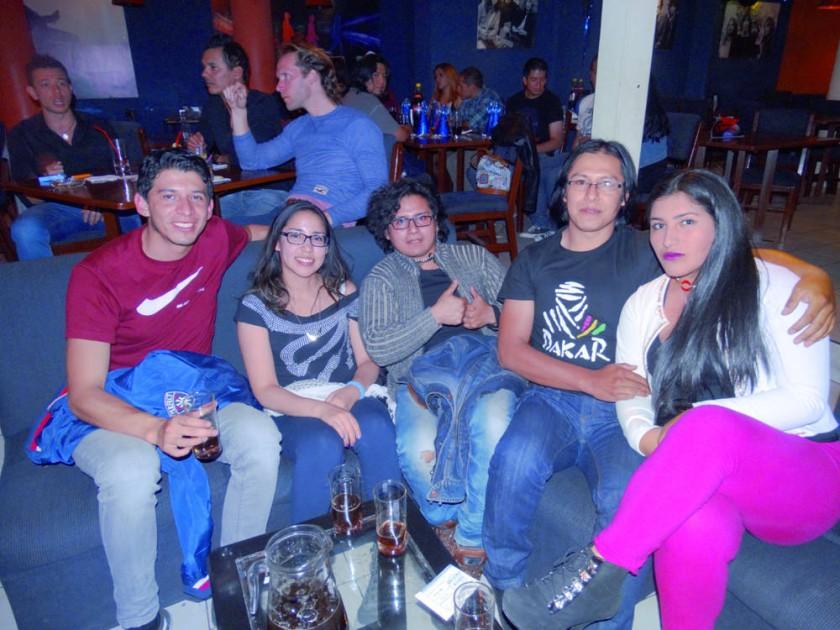 Reynaldo, Paola, Johnny, Aldo y Judith.
