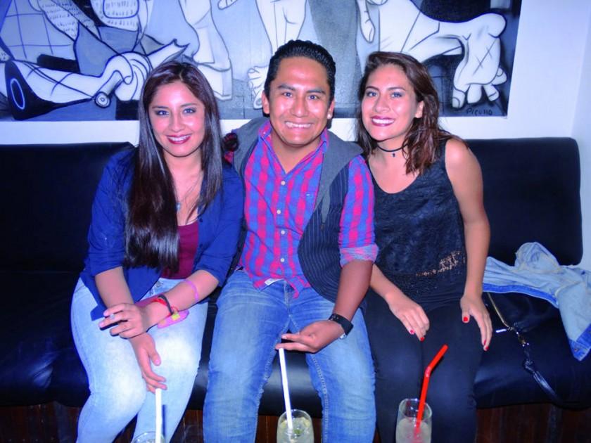 Rayza Martínez, Nicolás Pórcel y Alejandra Huaylla.