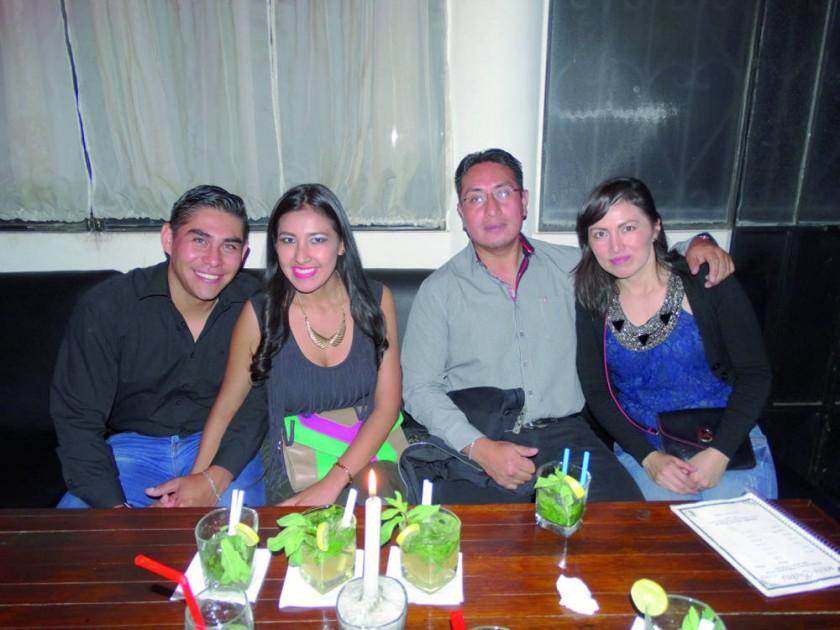 Ricardo Lora, Karen Espada, Juan Carlos Herbas y Laura Méndez.