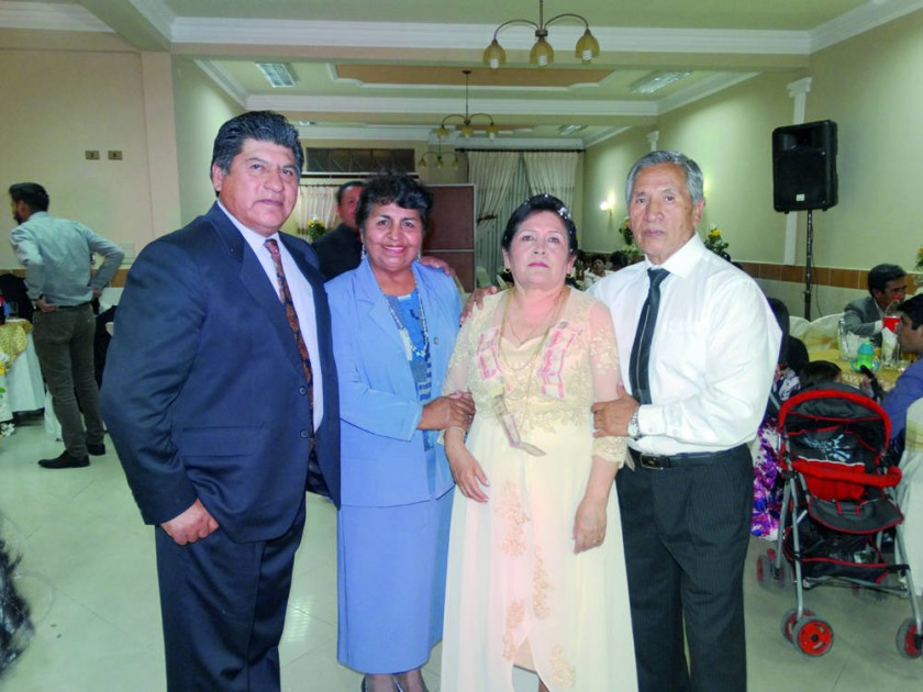 Hugo Challapa, Martha López, Nelly Gonzales  y Jorge Lenis.