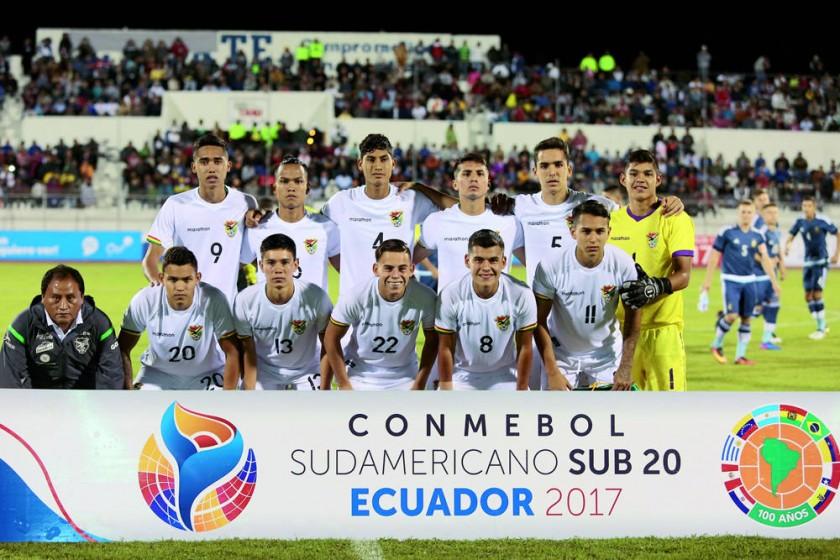 La Selección Nacional que se encuentra en Ecuador disputando el Sudamericano Sub 20.