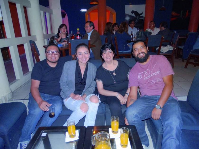 Christian Zárate, Fernanda Ticona, María Teresa Carrasco y Jorge Hervoso.