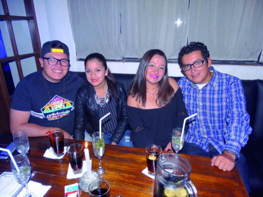 Wilson Ampuero, Daniela Beltrán, Dayna Maidana y Cesar Orellana.