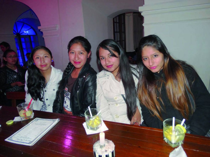 Zulma, Mildred, Dayana y Erika.