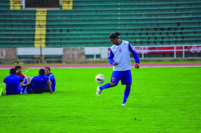 El brasileño dominando el balón en uno de sus entrenamientos.