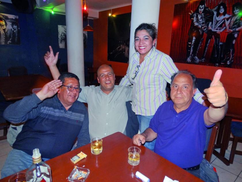 Iver Colque, Julio Revollo, Veracruz Rivas y Edgar Gutiérrez.