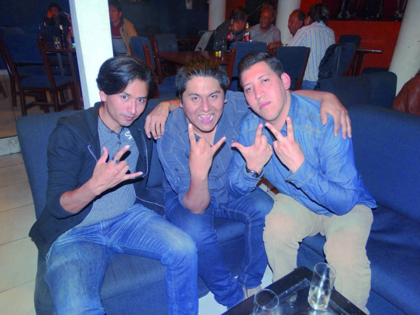 Javier Saavedra, Eduardo Saavedra y Ariel Romero.