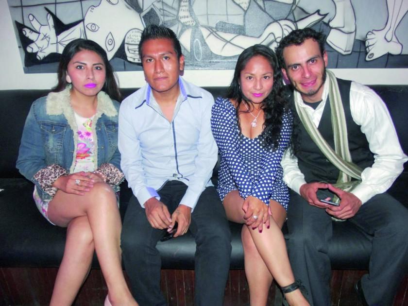 Kitty Gordillo, Limberth Mendoza, Loyda García y Daniel Mendoza.