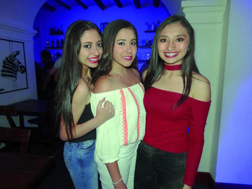 Alexandra Gutiérrez, Natalia Rengel y Ericka Camargo.