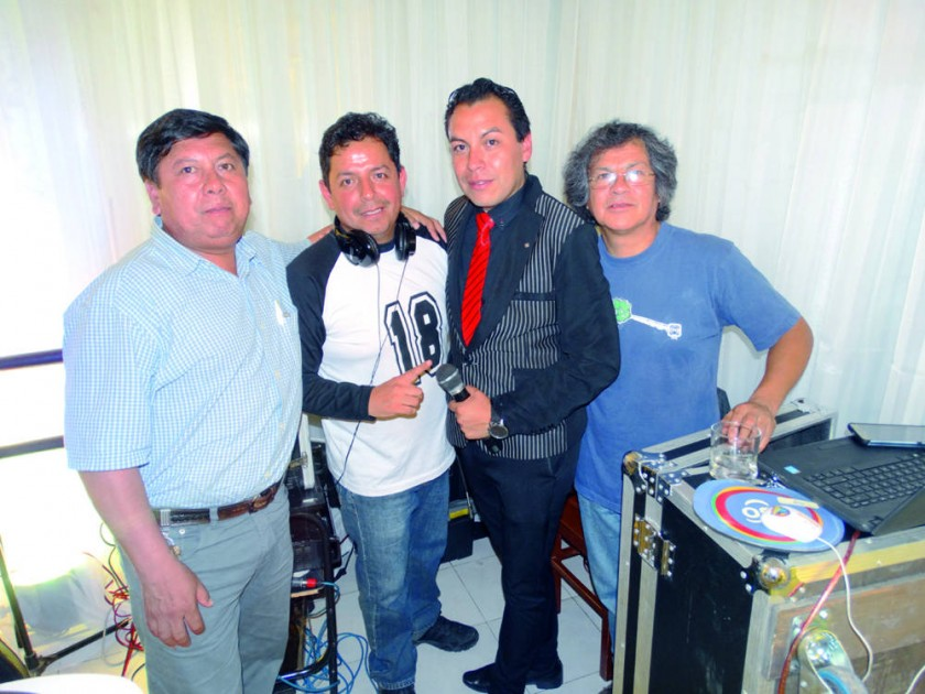 Jorge Huerta, Amilcar Mariscal, Edson Gil y Pepe Lenz.