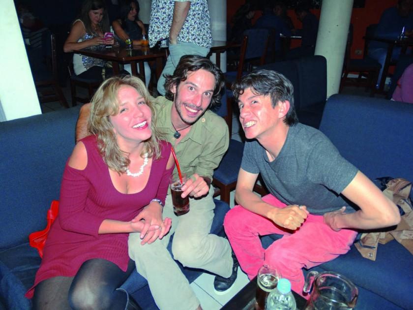 Mariana Bredow, Ivo Waehner y Jorge Valverde.