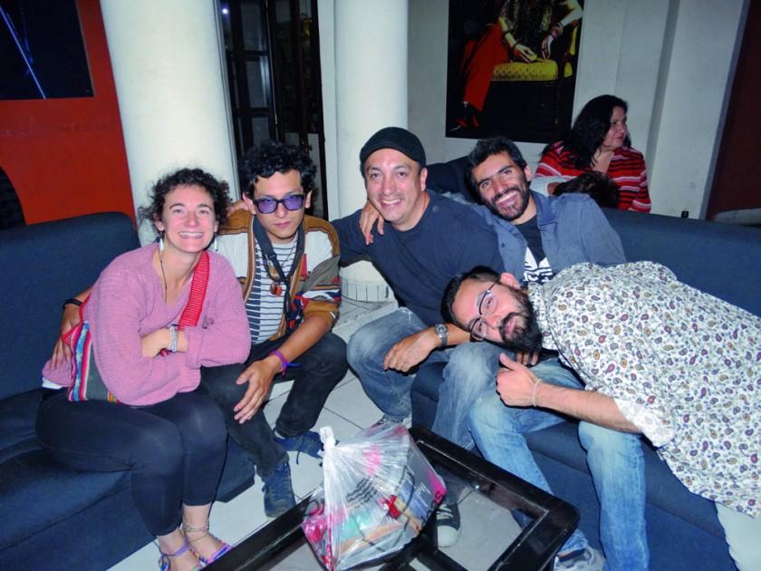 """Verónica, """"J Cucó"""", Ramiro, Ramón y Mauricio."""