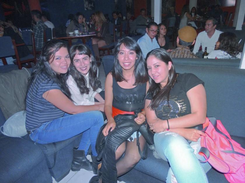 Cecilia Pino, Verónica López-Marti, Andrea Turdera y Eliana Sandy