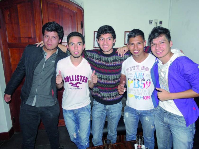 Mauricio Peralta, José Gonzales, Alberto Lisarazu, David Cazon y Harold Flores.