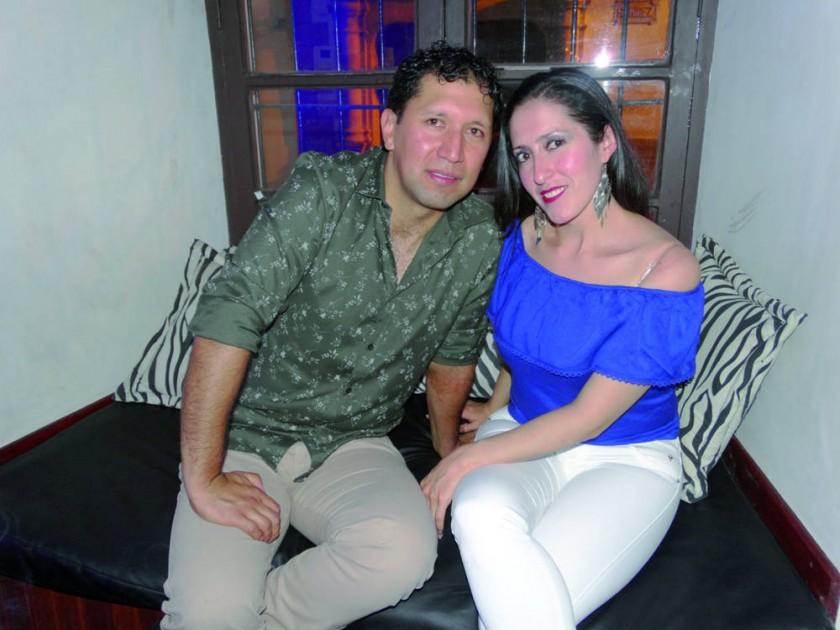 Alejandro Aguilar y Paola Heredia.