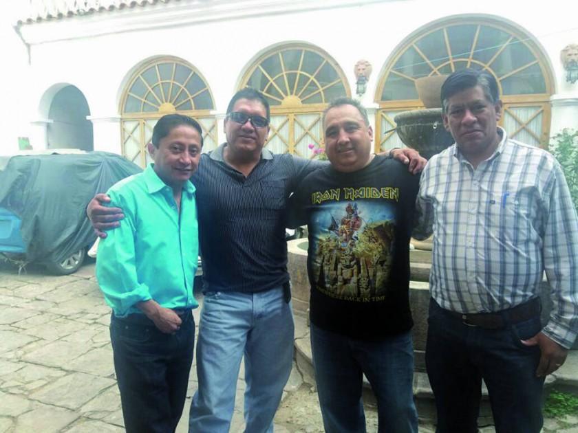 José Luis Ruelas, Kiko Sanabria, José Luis Assaf y Víctor Hugo Delgadillo.