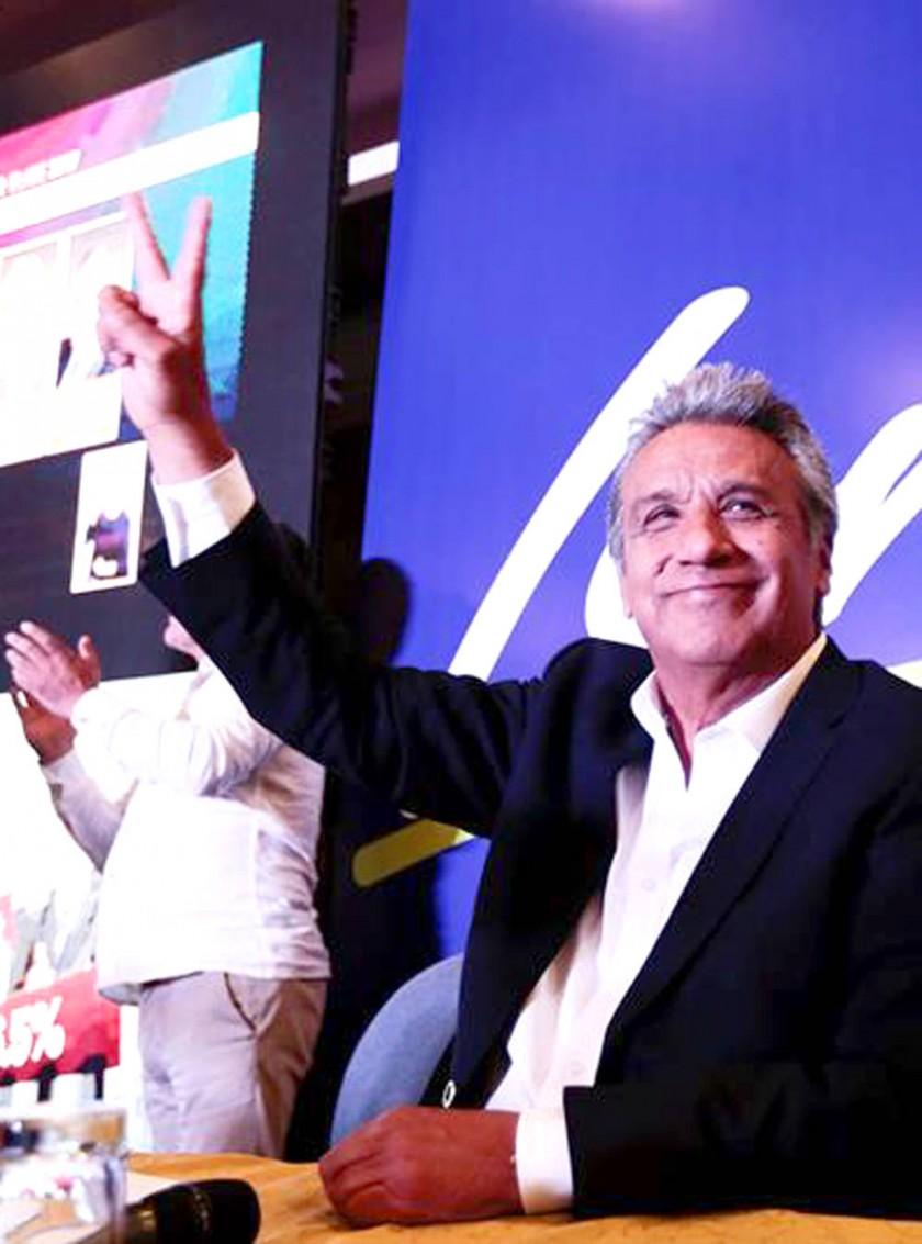PUGNA. Guillermo Lasso pugna por segunda vuelta y Lenín Moreno se siente ganador.