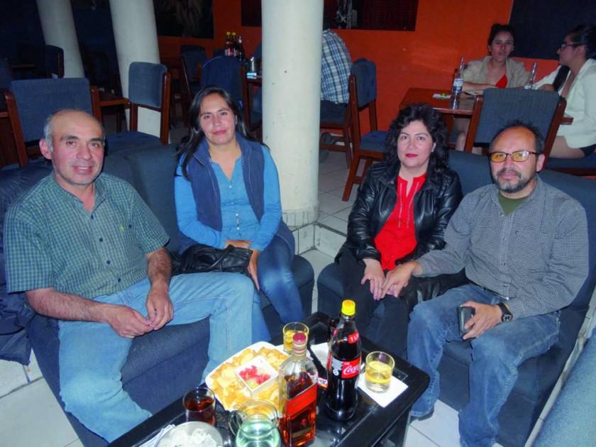 Juan Luís Salles, Carla Calvo, Mercedes Caballero y Javier Calvo