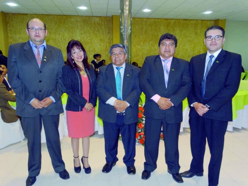 Concejo Técnico: Orlando Cors, Janeth Cuellar, Oscar Taboada, Lucas Morales y Bladimir Castro.