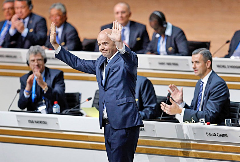 Gianni Infantino fue elegido como presidente de la FIFA en 2016