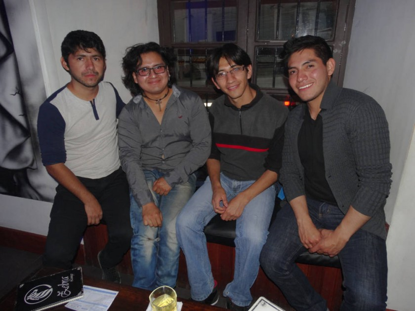 Jesús, Samuel, Luís y Johnny.