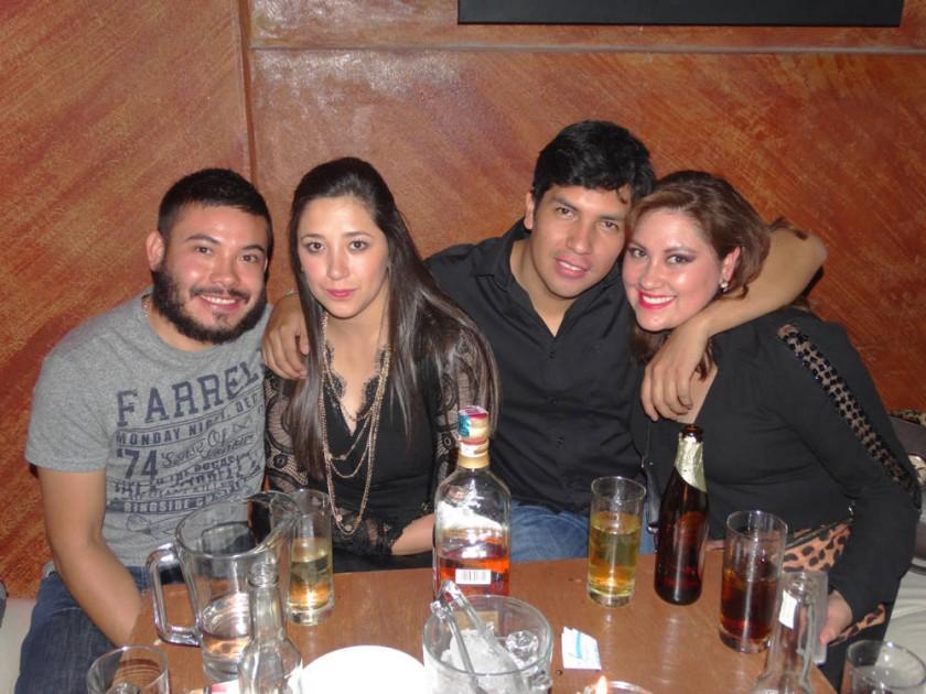 Steven Caero, Piroska Velasco, Marcelo Pantoja y Fabiola Balderas.
