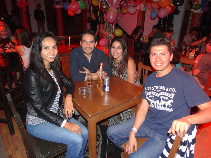 Melody Alandia, Mauricio Medina, Marcia Heredia y Rolando Encinas.
