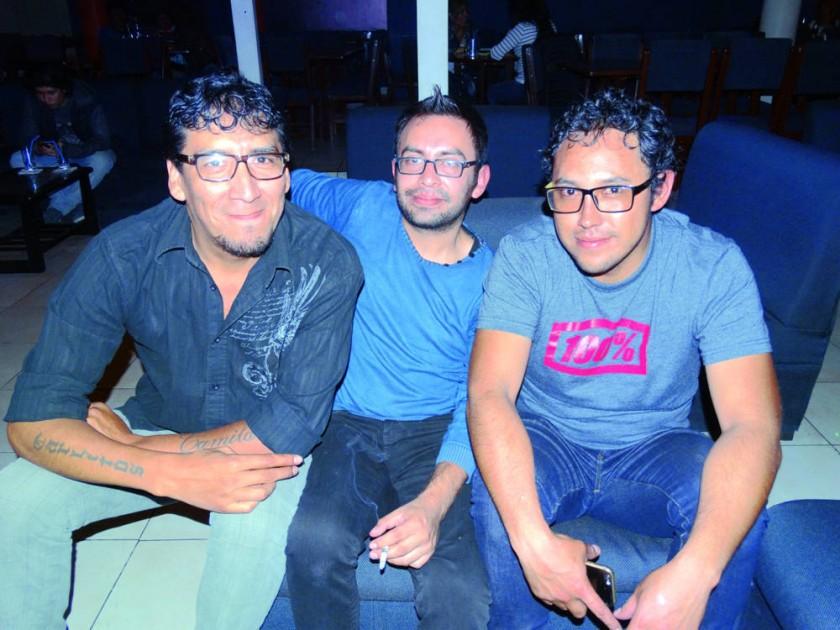 Juan Carlos Álvarez, Ricardo Gorena y Sergio Torres.