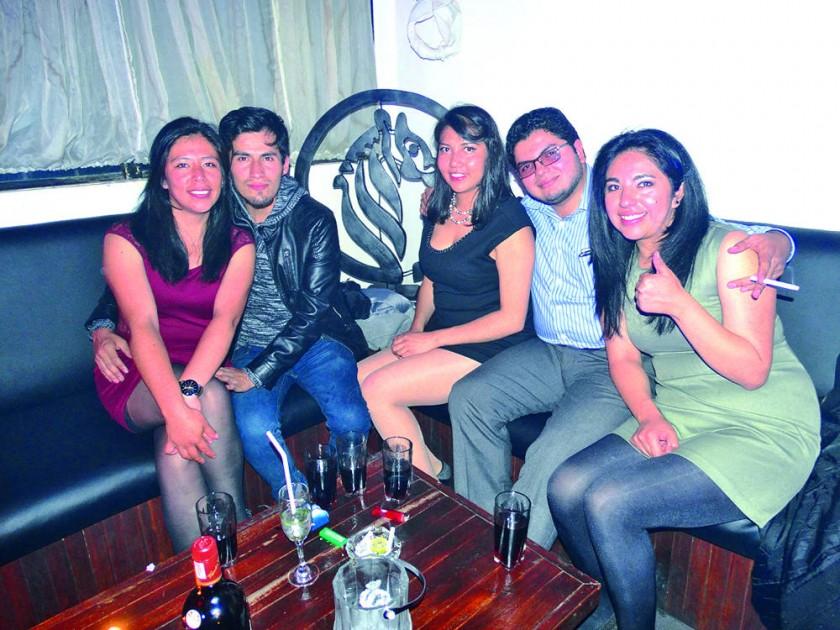 Claudia Quiroga, Luis Valencia, Claudia Raful, Omar Montalvo y Karen Quiroga.