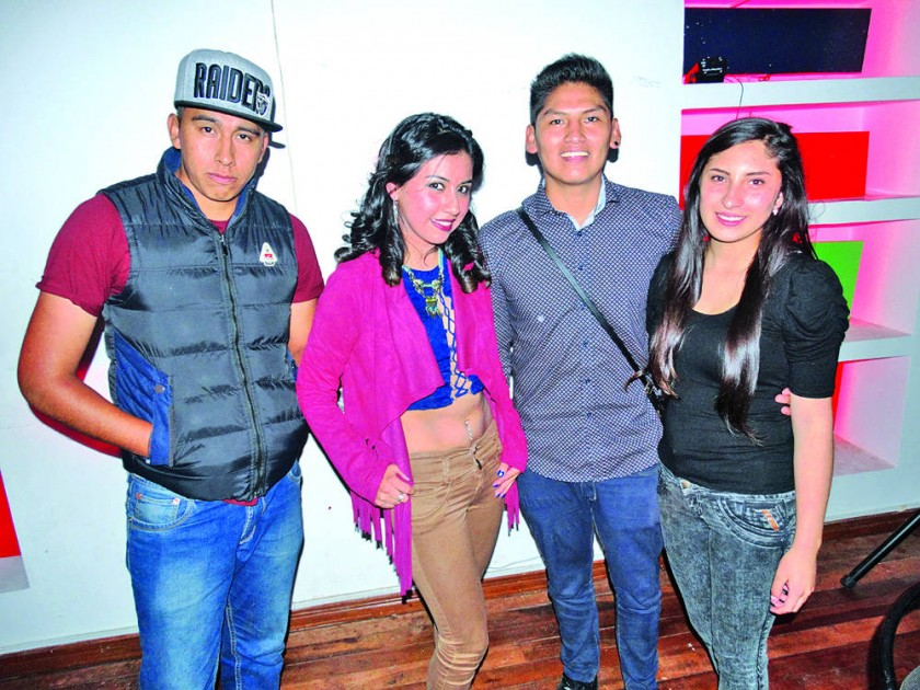 Beimar Manchego, Anabel Cabrera, Marcelo Saigua  y Katherine Ramírez.