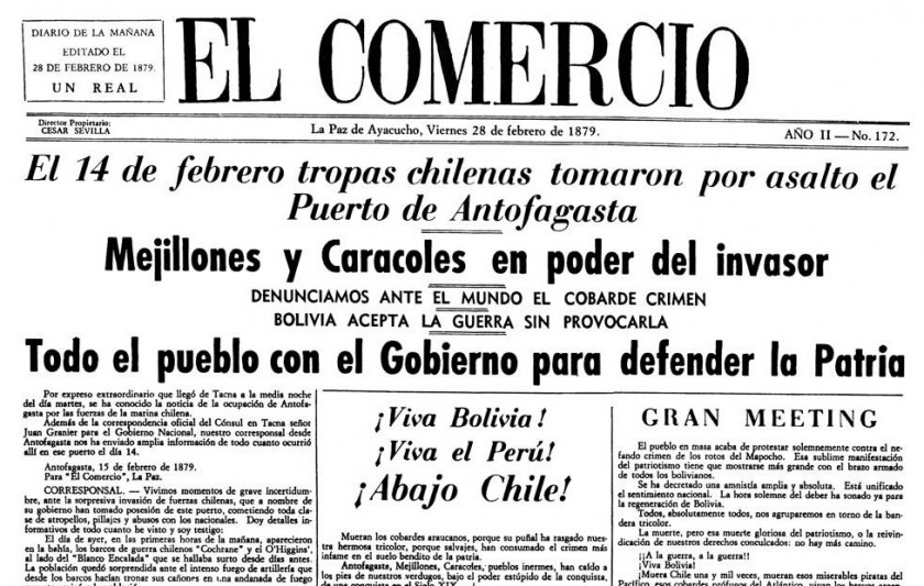 La Guerra del Mar, la noticia de 1879