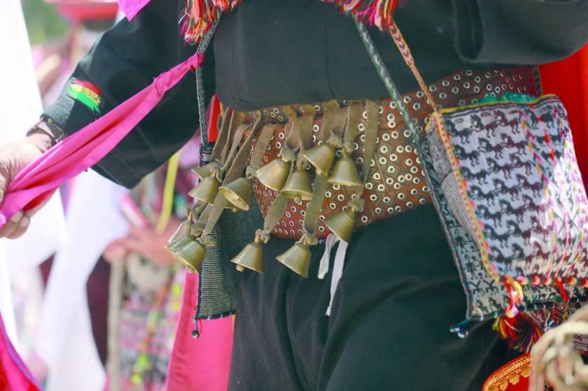 Varias campanillas marcan también el ritmo del Pujllay.