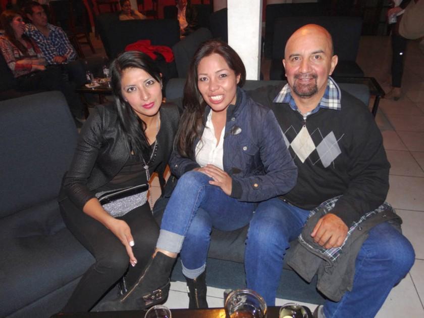 Pamela Yañez, Ludgarda Martínez y Juan del Carpio.