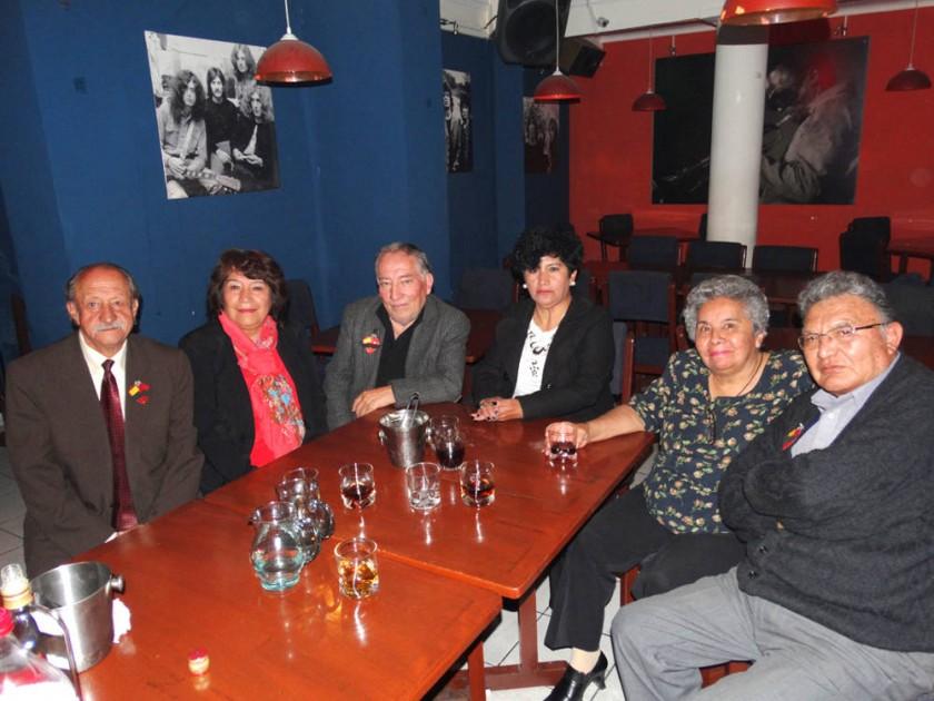 Renato Vega, Sandra Camacho, Enrique Hernán, Delma Romero, Rosario de Zárate y René Zárate.