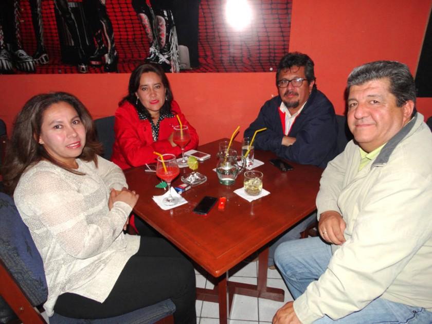 Alicia Dalence, Virginia Berrios,  Sergio Daza  y Bernardo Landeau.