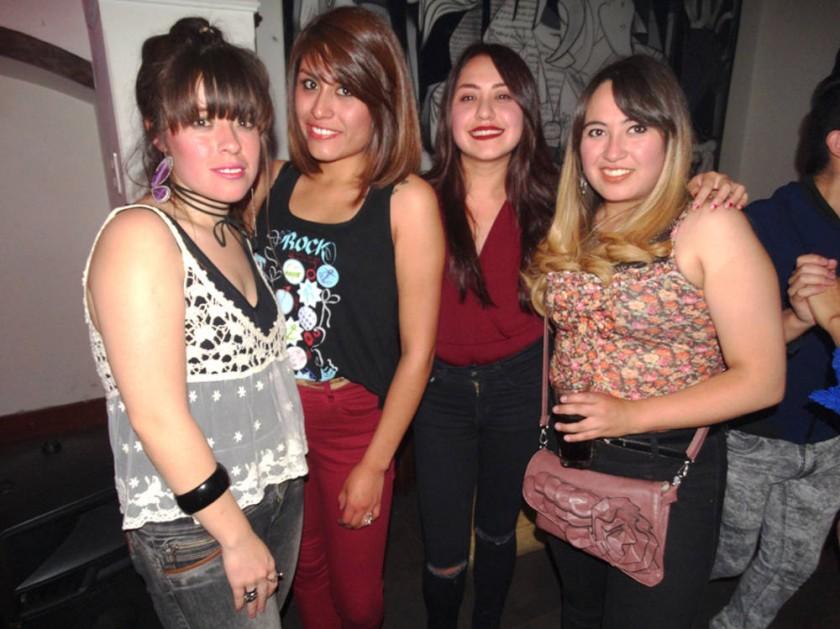 Shannon Álvarez, Alejandra Bayo, Alejandra Tapia  y Andy Bayo.