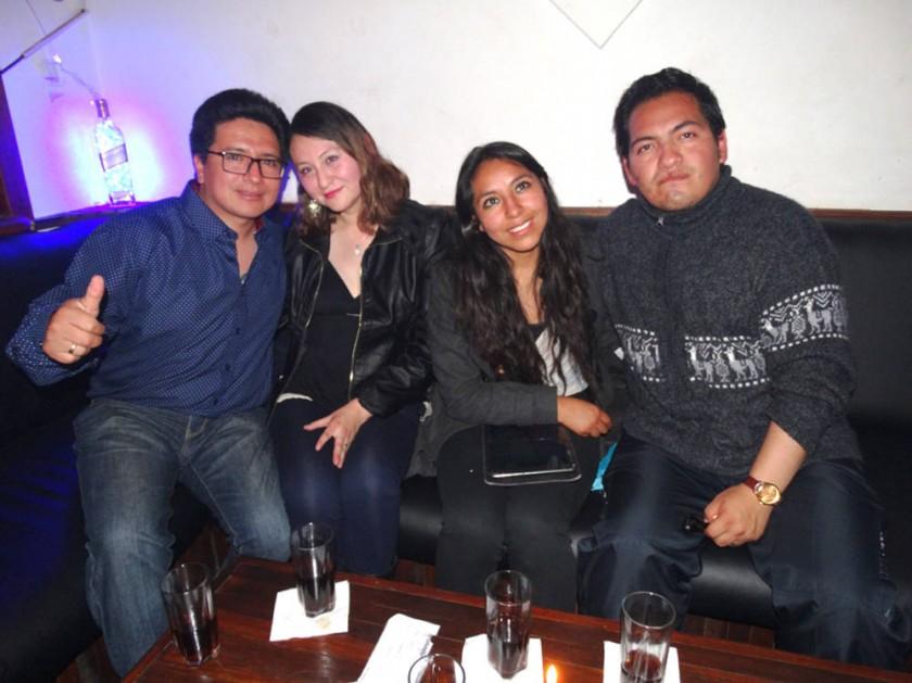 Adhemar, Rissel, Olivia y Álvaro.
