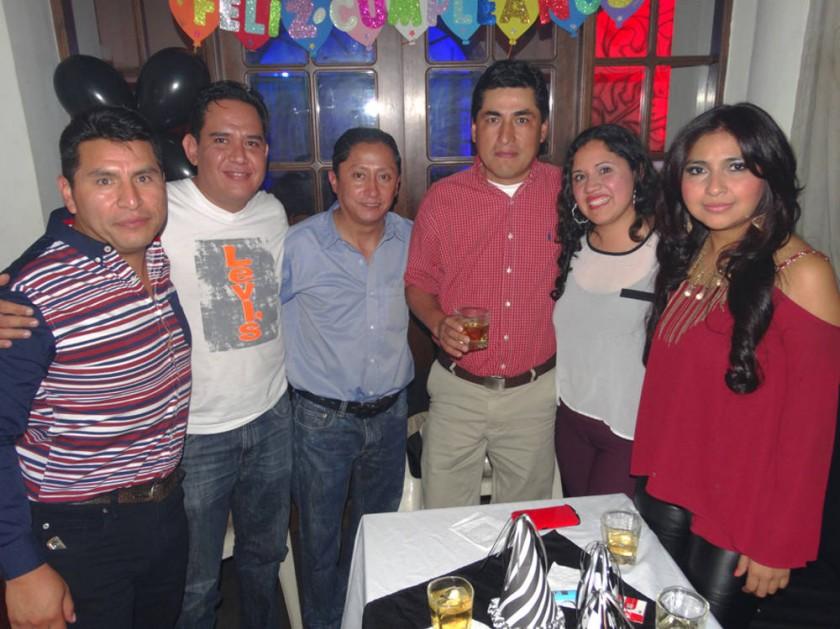 Diego Paravicini, Freddy Leyton, José Luis Ruelas, Fermín Puma,  Mariana Parra y Roxana Martínez