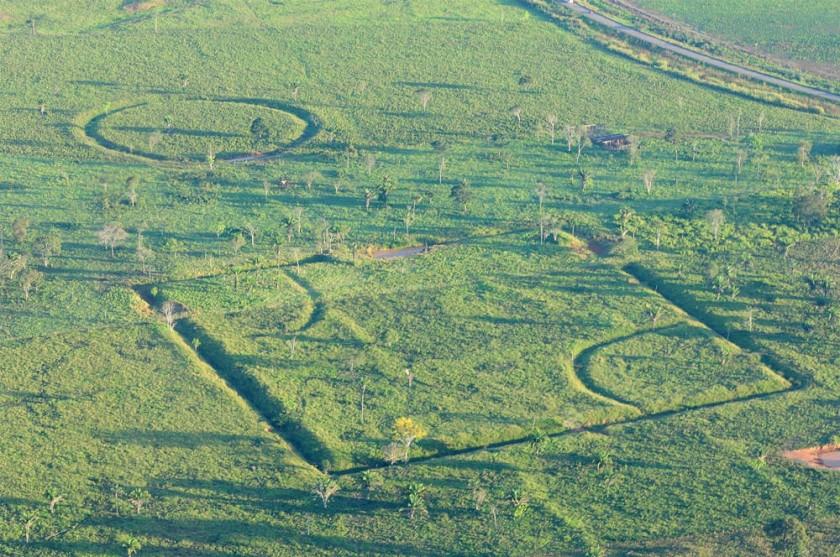 CONSTANCIA. Uno de los geoglifos identificado en Puerto Rico (Pando), realizado por culturas que habitaron la amazonía..