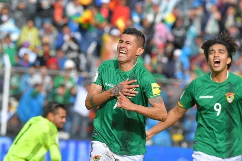 Arce y Martins anotaron para la seleccion boliviana. Foto: EFE