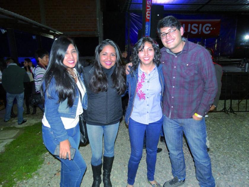 Fátima, María, Betel y Sergio.
