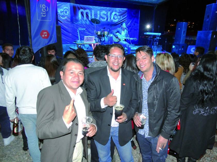 Wilder, Franz y Ramiro.
