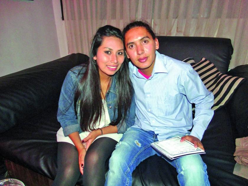 Fabiola Calderón y Manuel Chavarría.
