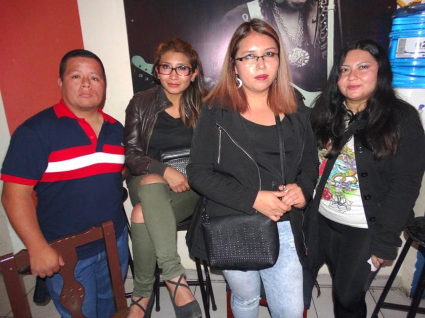 Edgar Caballero, Cinthia Flores, Natalia Pérez y Silvia Salinas.