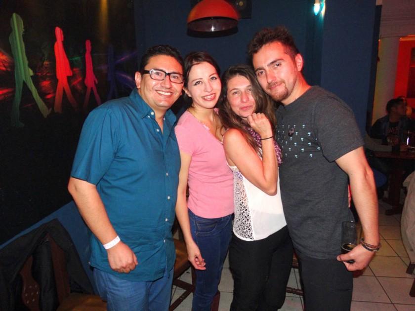 Cristian Murillo, Laura Kukoc, Andrea Young y Sergio Salazar.