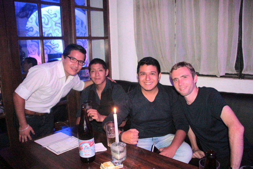 Anibal Aldana, Ludwin Siles, Antonio Barrios y Mark Payne.